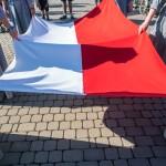 Flaga biało-czerwoną Lednica !