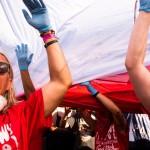 Woodstock, flaga biało- czerwona